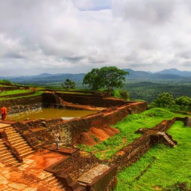 The ruins at the top of Sigiyria in Sri Lanka.