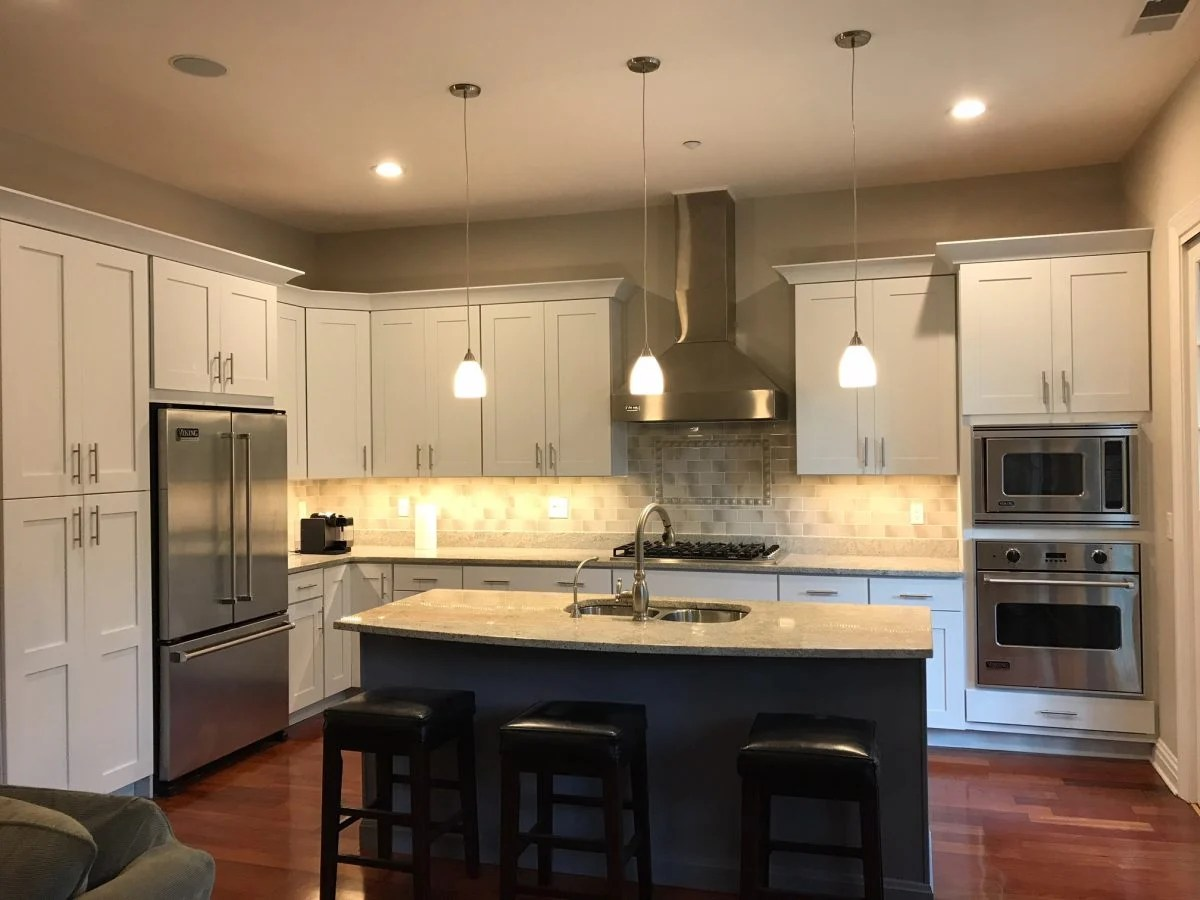 Painting Dark Kitchen Cabinets White In Morristown Nj Monk S