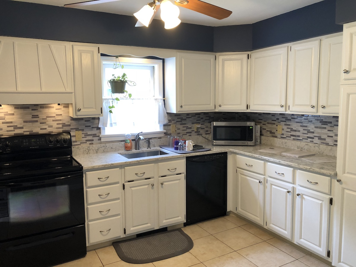 Painting Kitchen Cabinets Estimate Cabinets Painted White And New Countertops Monk 39s In Nj