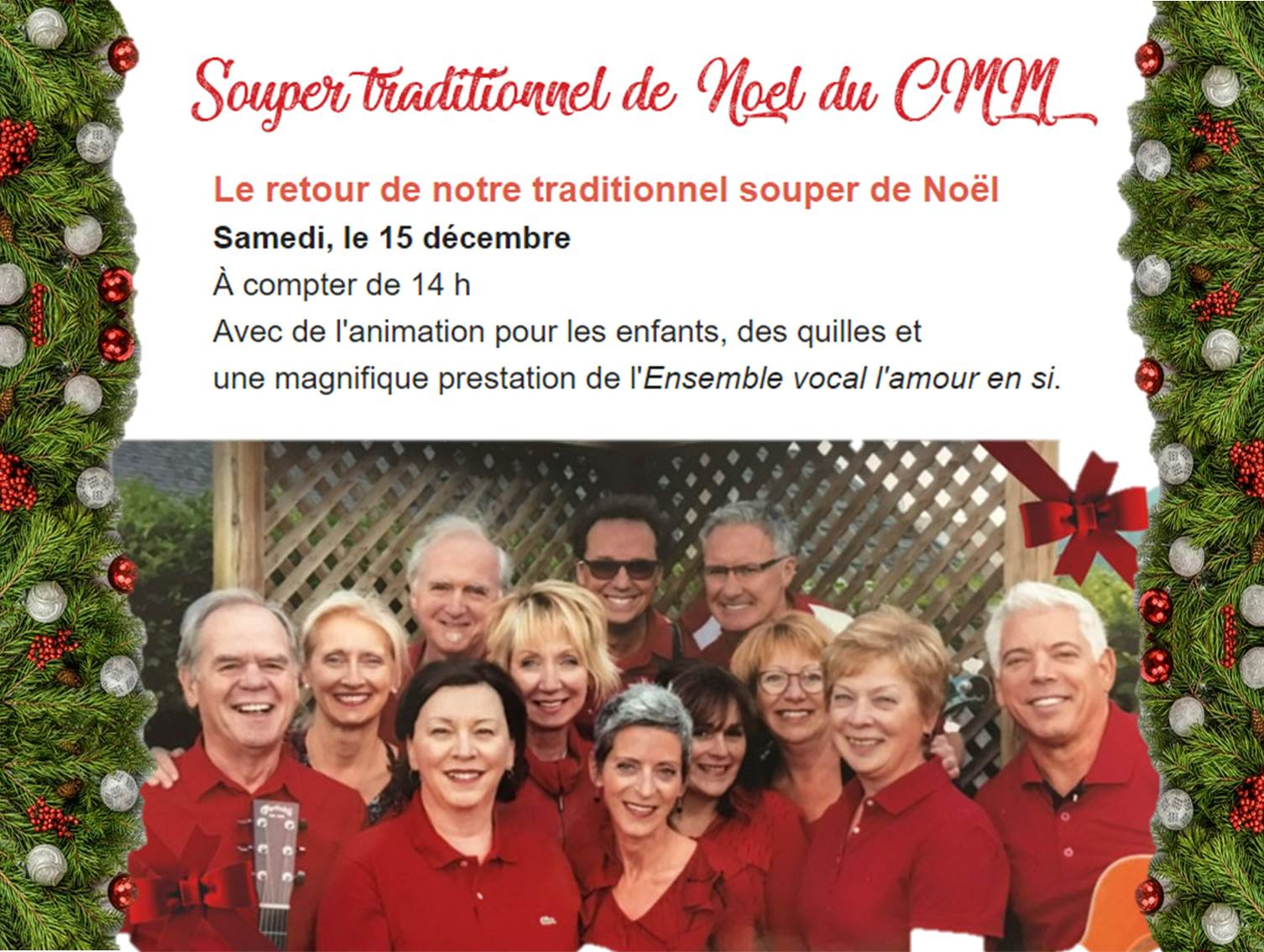 Noel Traditionnel Souper Traditionnel De Noël 2018 Du Cmm Monlimoilou