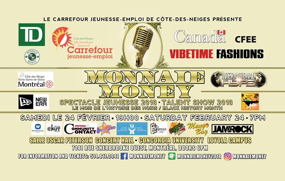 Monnaie Money Talent Show 2018 Flyer MonnaieMoney \u2013 Financial