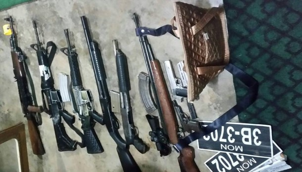 confiscated MPDF guns, ammo (Photo: the Internet)