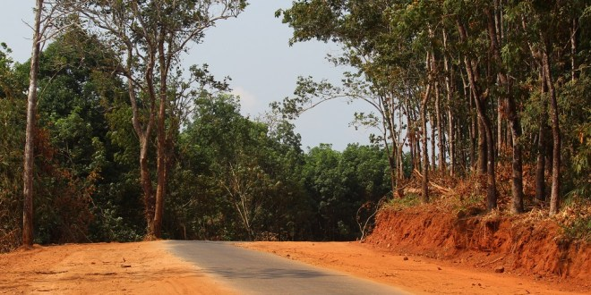 Newly excavated soil aside of the road from Kalaw village to Kawsar Town (Photo: Mon Htaw /MNA)