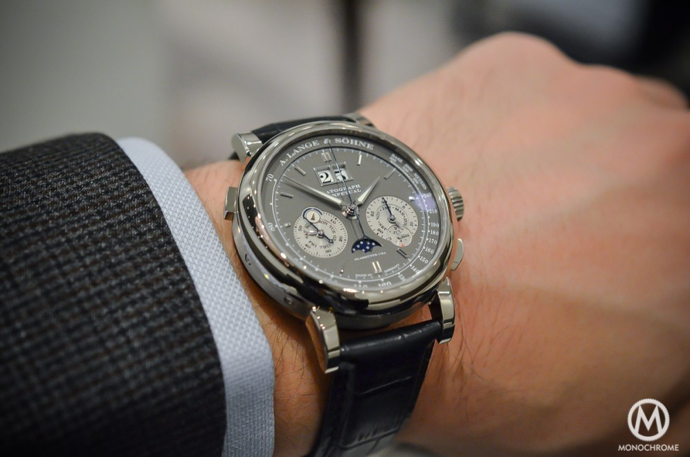 SIHH 2015 A Lange Amp Sohne Datograph Perpetual Grey Dial