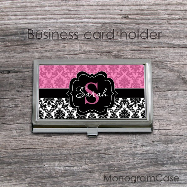 Two colors damask business card case MonogramCase