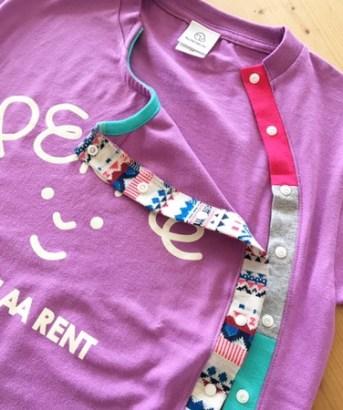 女の子用♪前開き加工のワンピース・ロンパース・Tシャツ