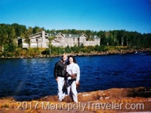 Standing in Front of Cove Point Lodge in 1997