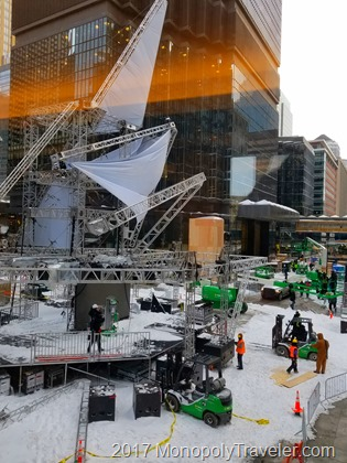 Conert stage being built