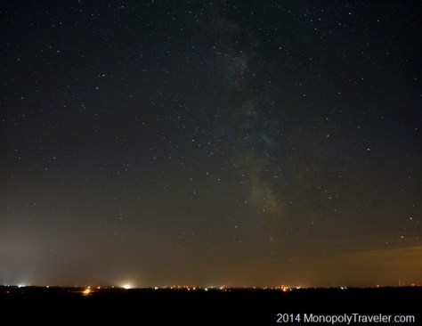 The Milky Way Almost Touching the Horizon