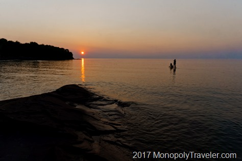 Sun setting over Lake Superior