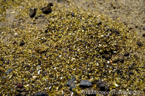 Close up of the green sand