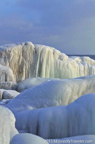 Ice Sculptures Created by Lake Superior