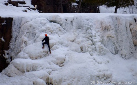 Climbing the ice walls