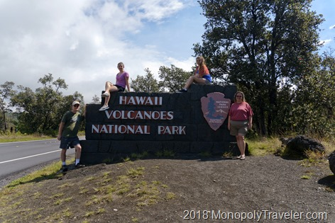 Hawaii Volcanoes Entrance Sign
