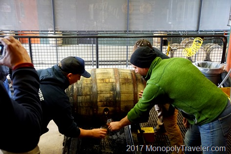 Opening a barrel of Bourbon and testing it