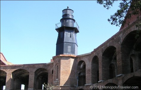 Lighthouse Inside Fort Jefferson
