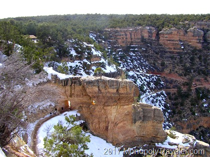 The beginning of the Bright Angel Trail.