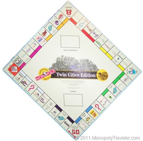 Twin Cities Monopoly Board