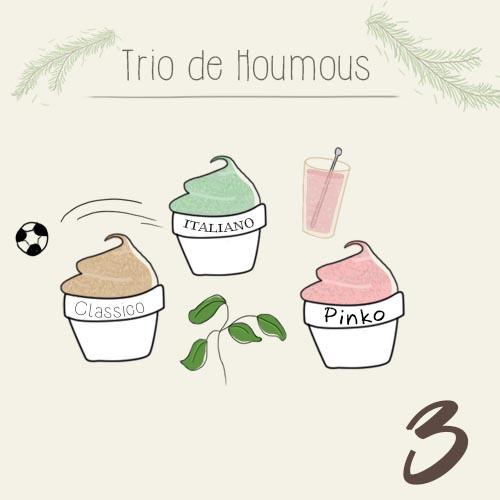 Trio de Houmous pour un Noël fléxitarien
