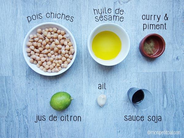 Noël végétarien : trio de houmous, ingrédient le classico