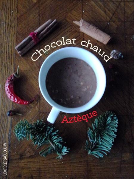 calendrier de l'avent 2015 par mon petit balcon jour 6 - chocolat chaud aztèque de noël au lait végétal
