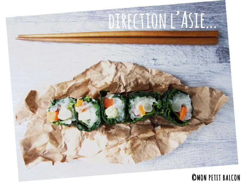 recette de maki aux légumes de printemps