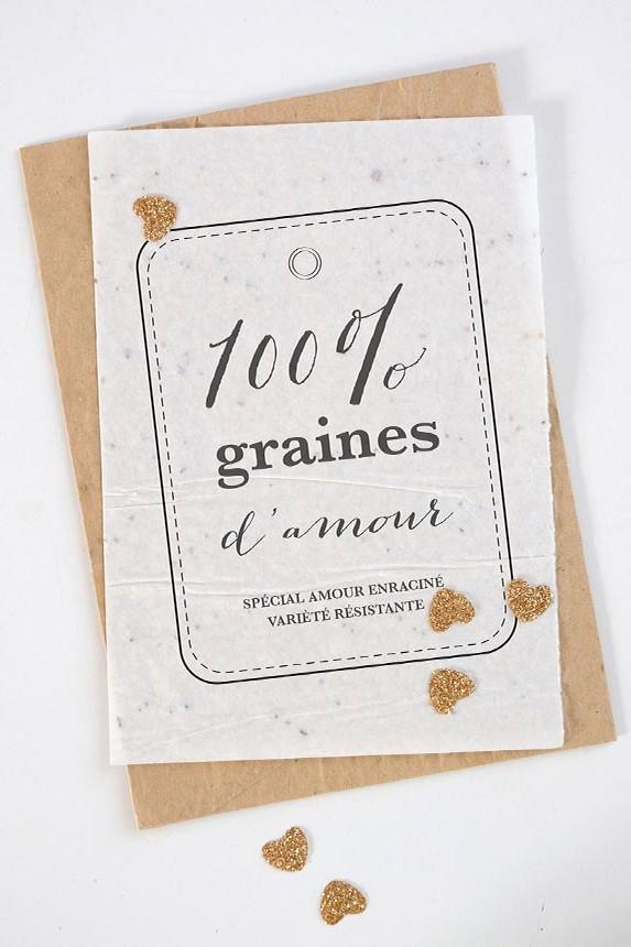 Growing Paper France papier ensemencé faire-part