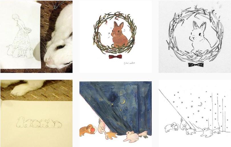 Compte instagram illustration schinako