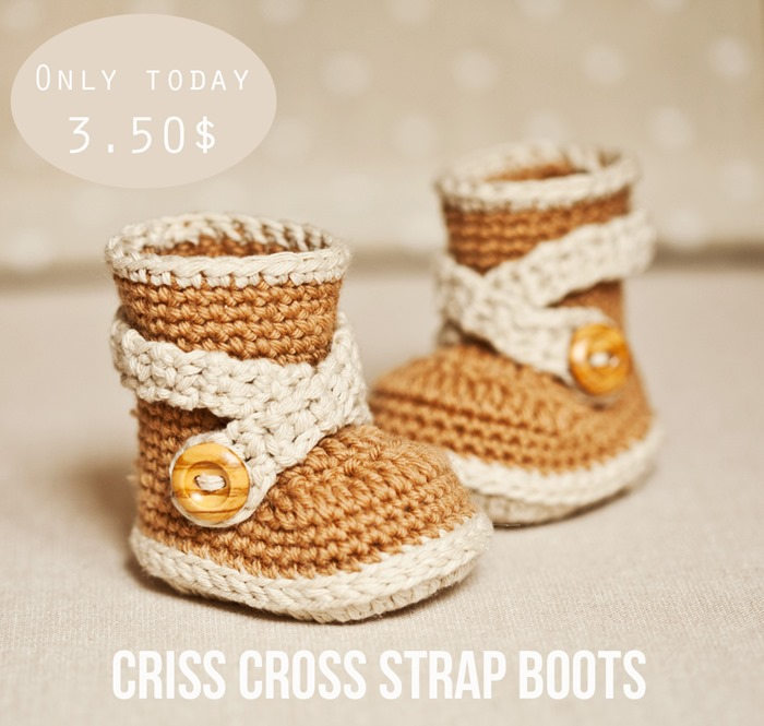 New pattern – Criss Cross Strap Boots