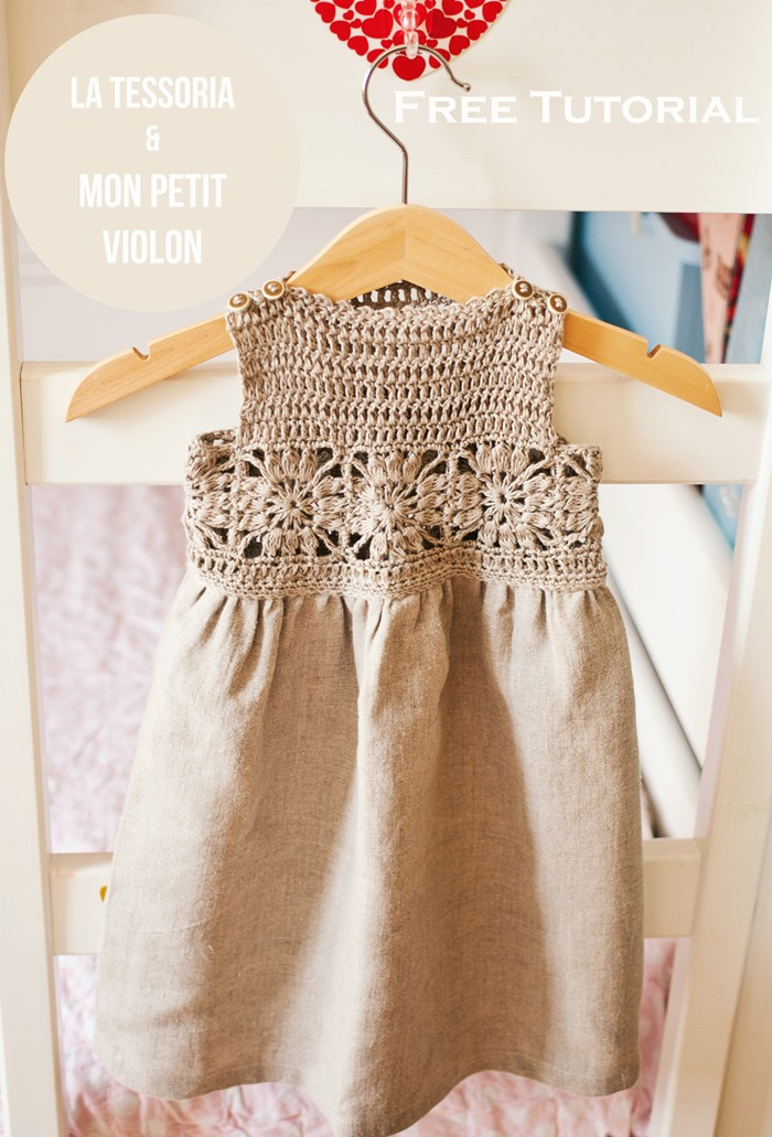 Crochet Patterns Tutorial : Mon Petit Violon Free crochet tutorial - Granny Sqaure dress by Mon ...