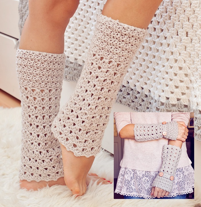 Free Crochet Pattern For Womens Leg Warmers : Mon Petit Violon New pattern, book and other news ...