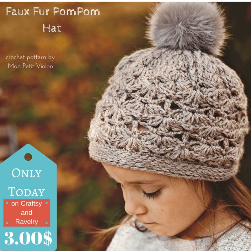 Do you love Faux Fur Pom-Pom Hats? New pattern to try!