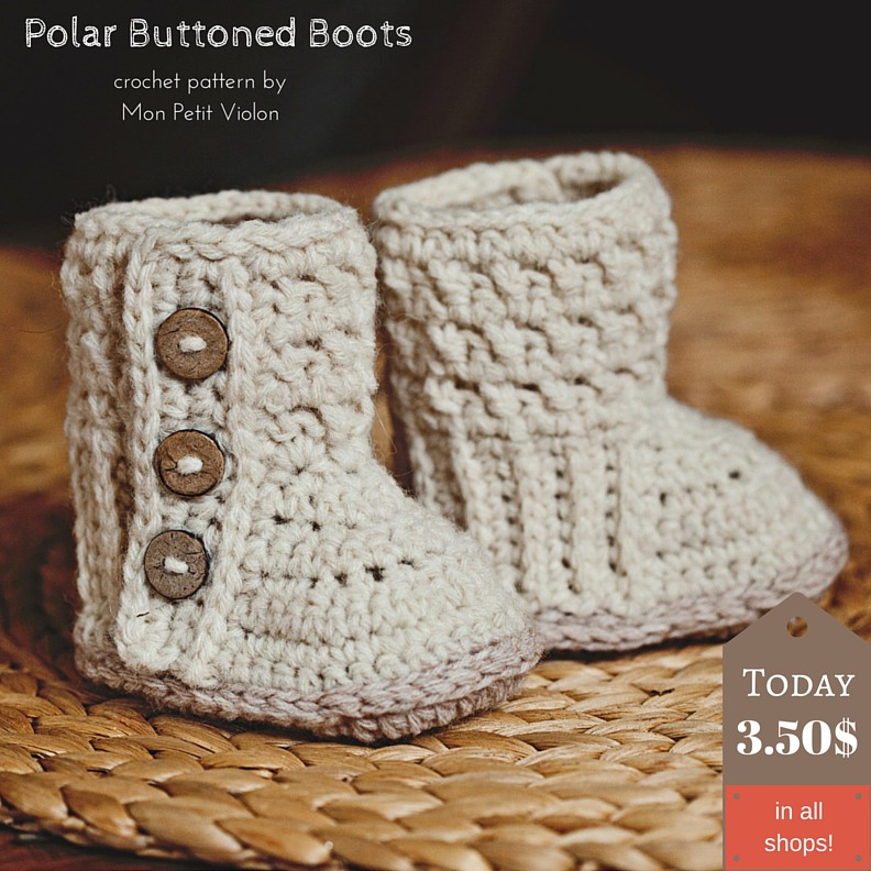 Perfect weekend project for you – super cute crochet baby booties!