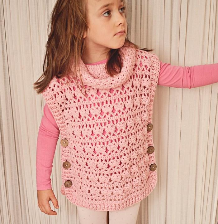 Rose Poncho - Pullover, crochet pattern by Mon Petit Violon www.monpetitviolon.etsy.com
