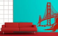 Golden Gate Bridge wall decal  MONROE DESIGN SHOP