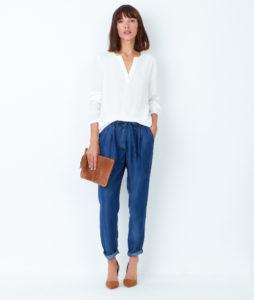 blouse blanche etam
