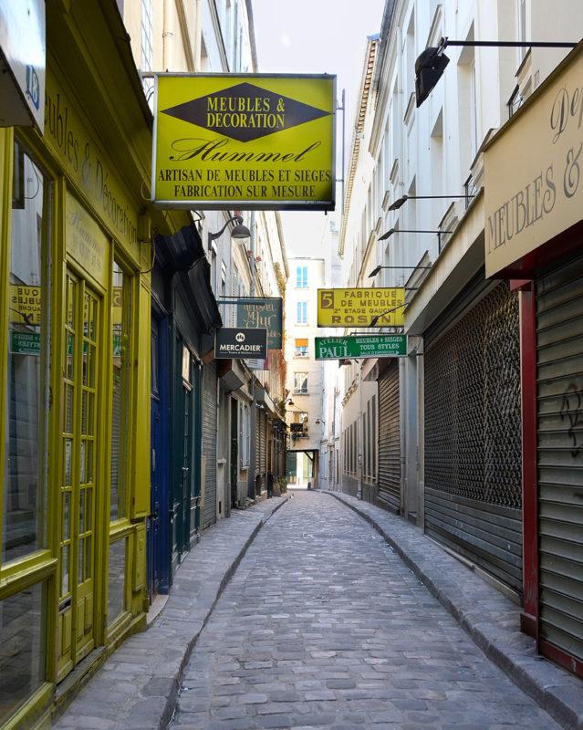 Les cours et passages rue du Faubourg Saint-Antoine