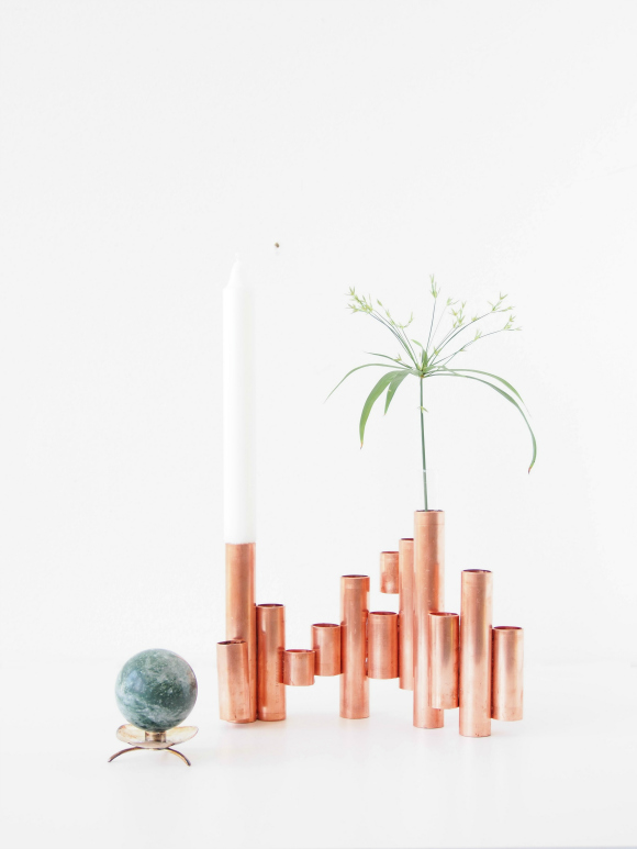 Make-copper-tube-candle-holde