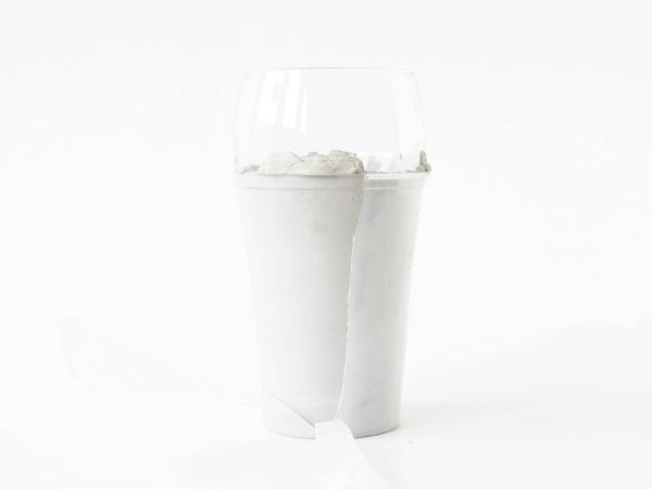 DIY-concrete-tumblers-removing-plastic-cup
