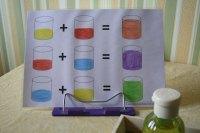 Farben mischen in kleiner Dosierung. | Montessori selbst ...