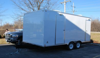 Portable Shower Trailer Exterior