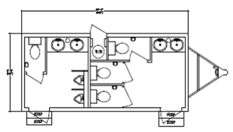 Used Restroom Trailer Layout