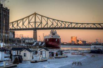 Ice Fishing Village in the Old Port of Montreal