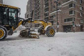Snow plough in the Mcgill Ghetto