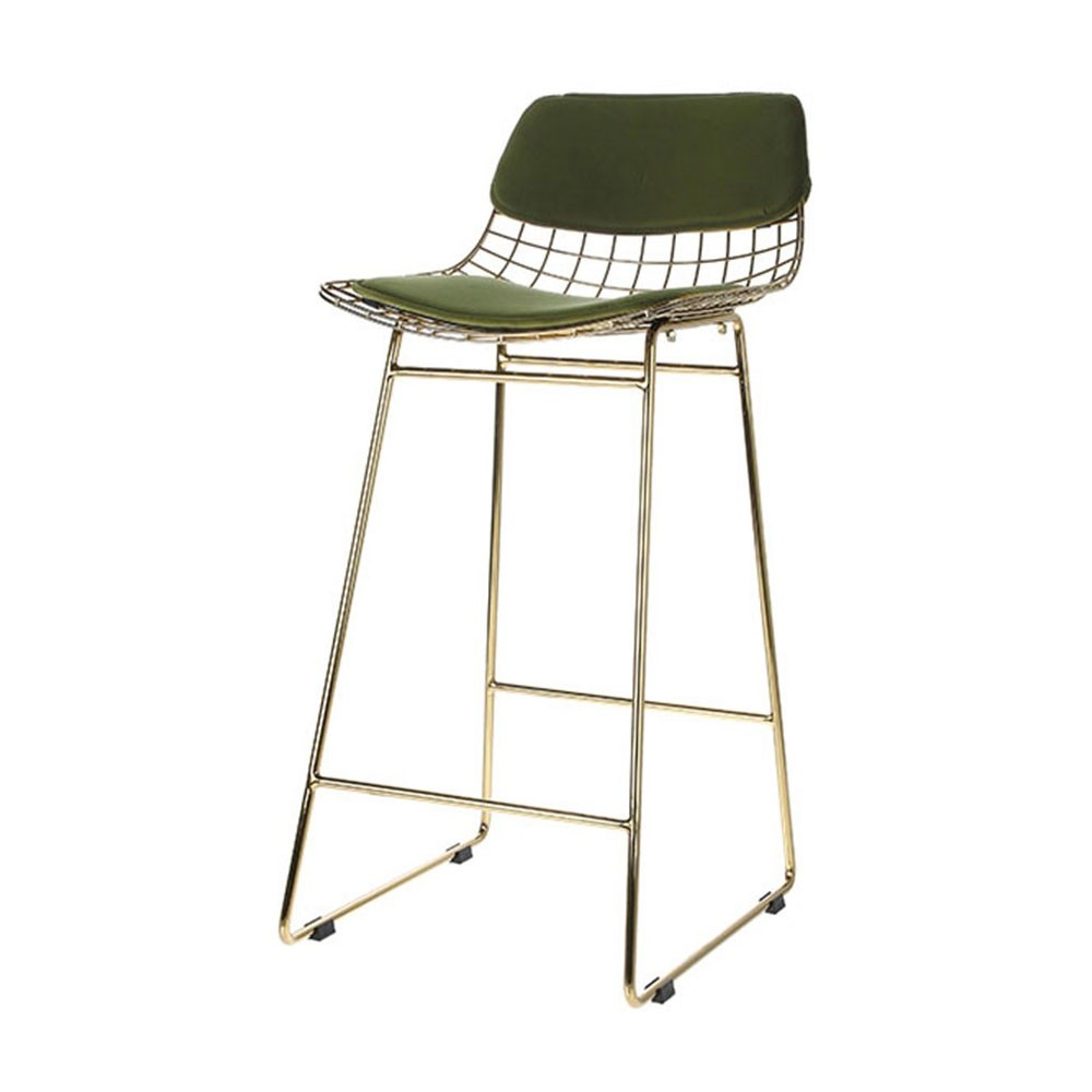 Tabourets Bar Verts Kit De Confort En Velours Vert Pour Tabouret De Bar Wire Lot De 2