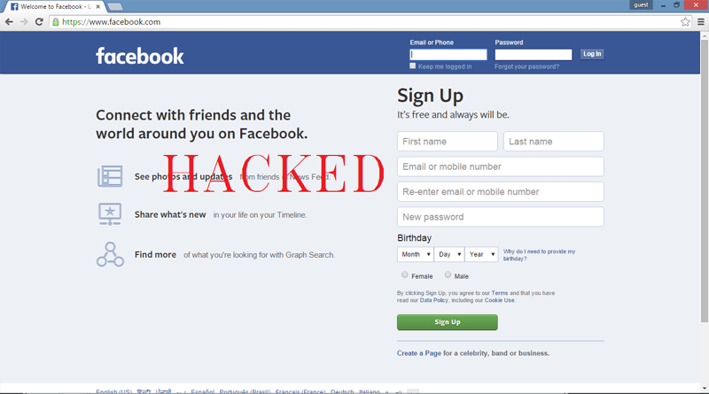 hack someones facebook