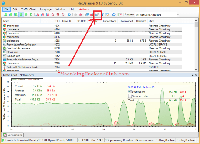 how to limit data usage on windows -netbalancer