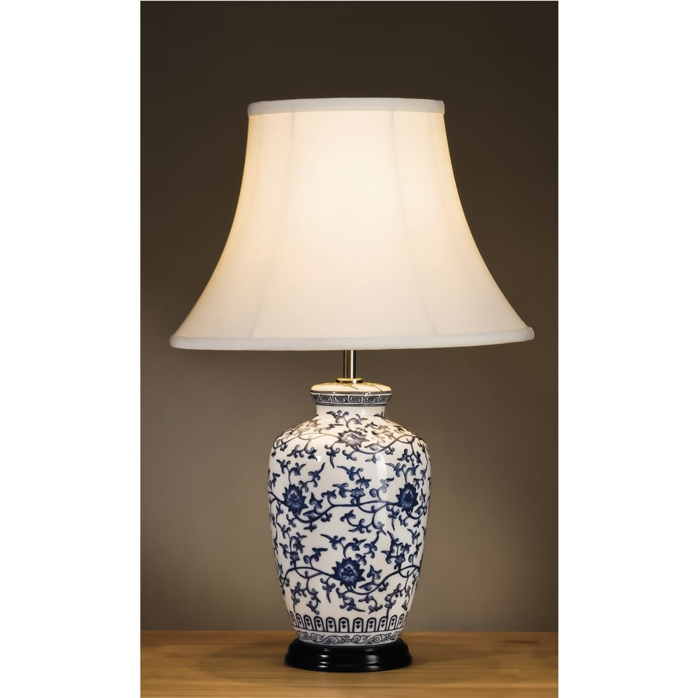Glass Jar Lamp Shade Elstead Lighting Elstead Lighting Blue And White Ginger Jar Table