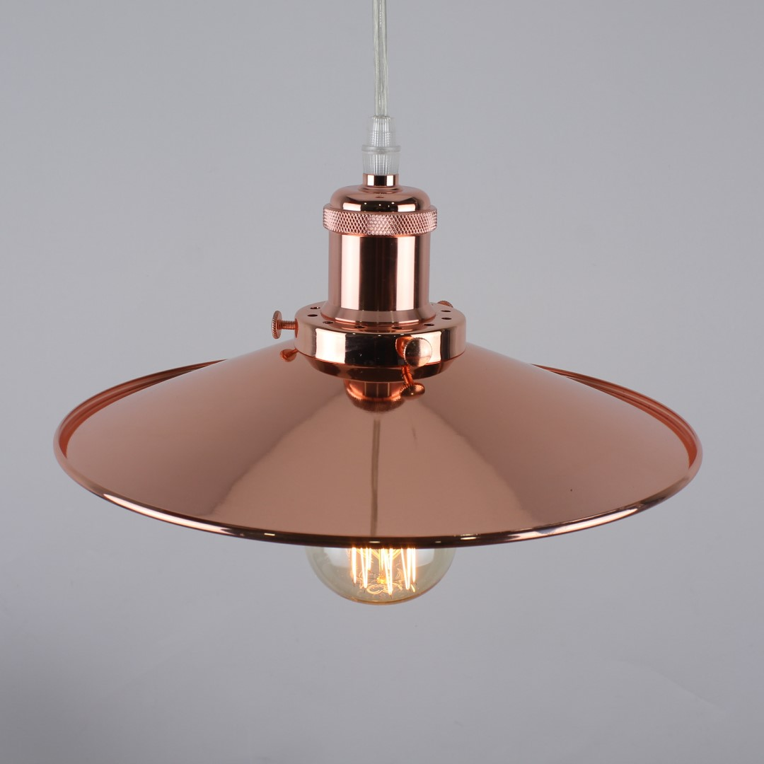 Modern Vintage Lights Modern Vintage Industrial Copper Ceiling Light Shade