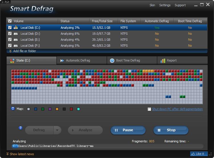 硬碟重組工具 IObit Smart Defrag 2.5.0.1160